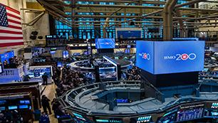 In celebration of BMO's bicentennial, Bill Downe, former BMO CEO rings the NYSE Opening Bell®.