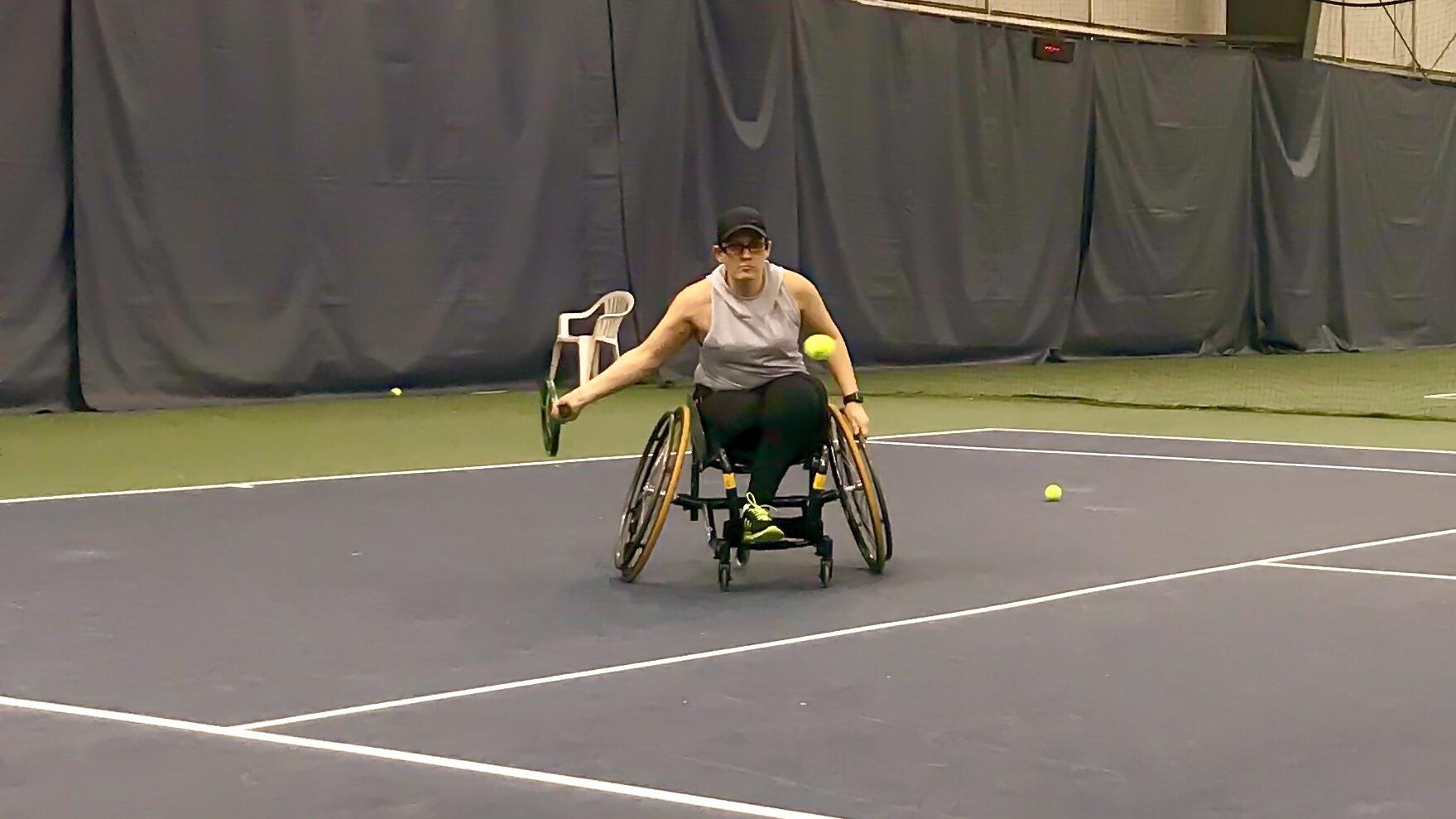 Wheelchair tennis athlete