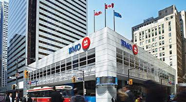 Street view BMO branch at First Canadian Place, Toronto