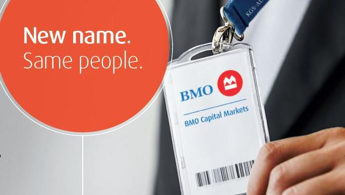 Advertisement announcing that KGS-Alpha is now officially part of BMO Capital Markets.